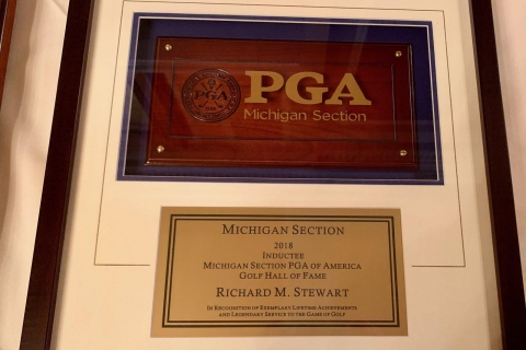 Dick Stewart Election Into the Michigan PGA Hall of Fame