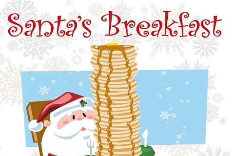 Santa's Breakfast and Gingerbread House Decoration